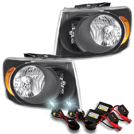 Black Fits 2007 2008 2009 Dodge Durango Lh Rh Headlights Slim 6000k Hid