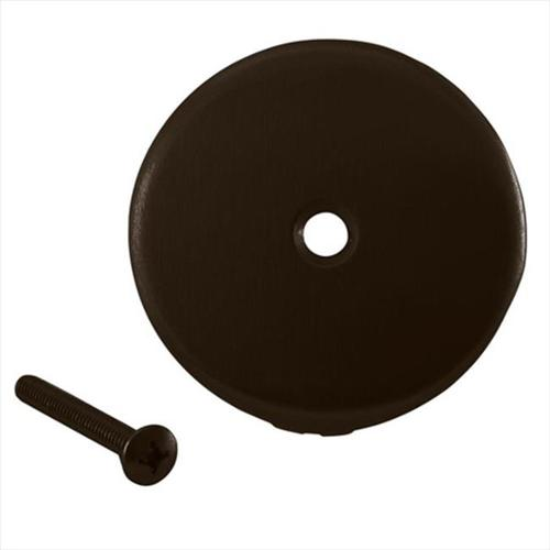 Westbrass D328-12 1-Hole Overflow Face Plate and Screw in Oil Rubbed Bronze