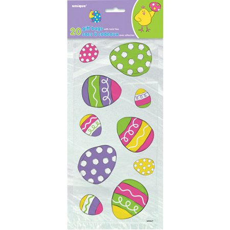 Bright Easter Cellophane Bags, (Easter Treats Tower)