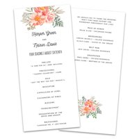 Personalized Floral Mason Jar Wedding Program