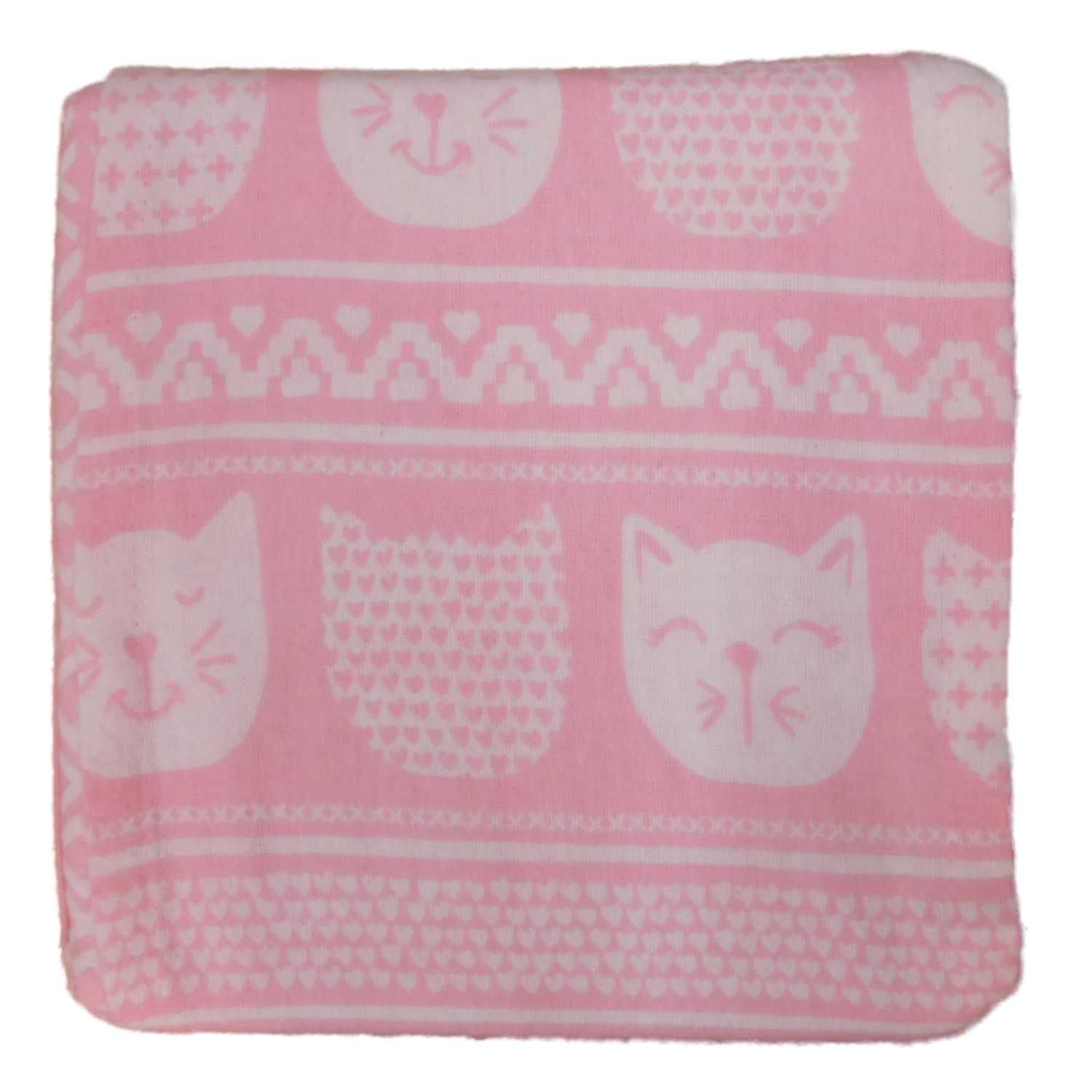 Circo Pink Kitty Cat Sheet Set Queen Size Flannel Bed She...