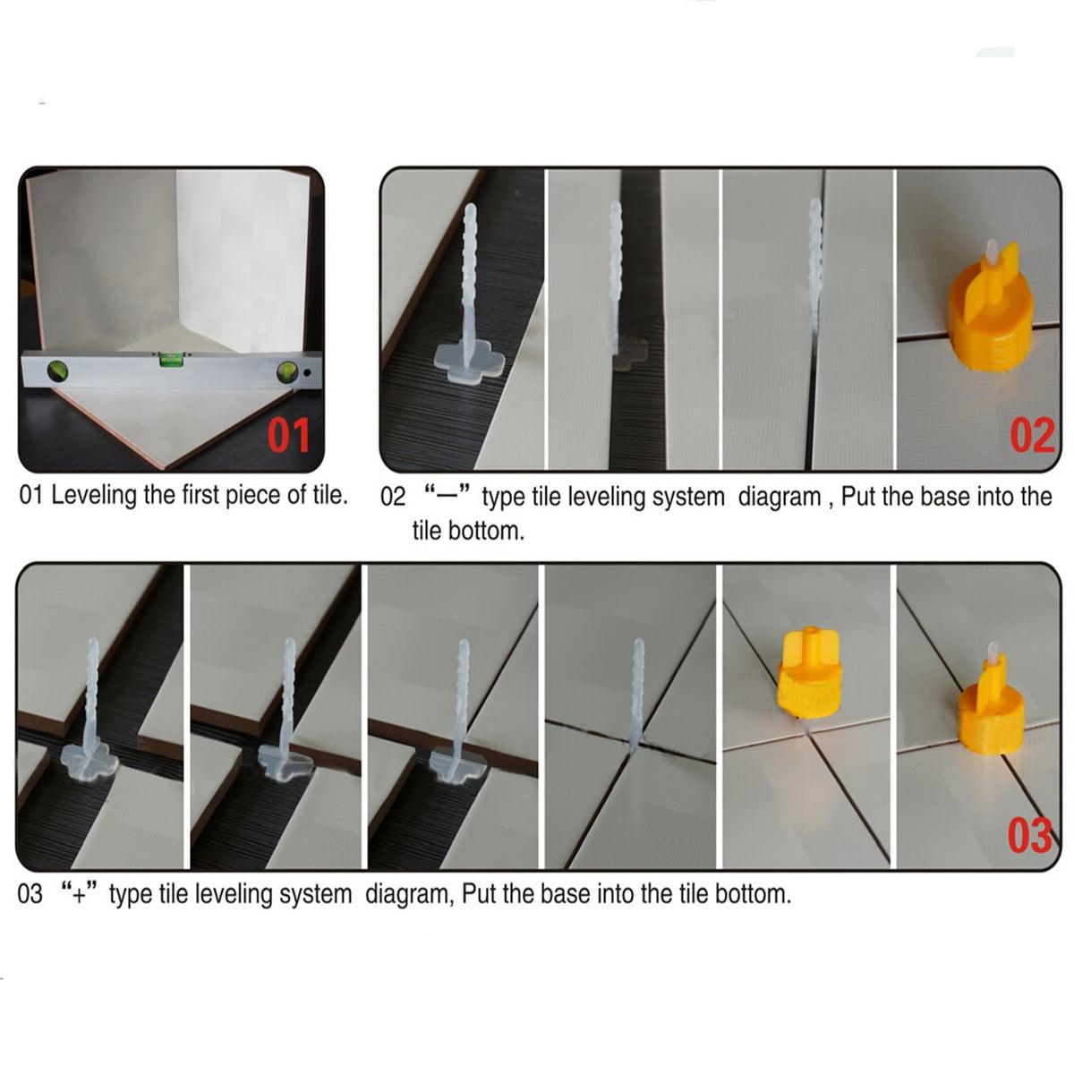 100pcs Professional Tile Leveling System Base Cap Spacer Flooring
