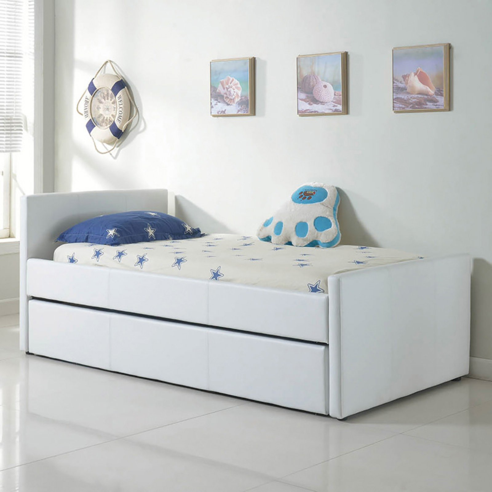 Casabianca Duette Eco-Leather Panel Twin Bed with Trundle
