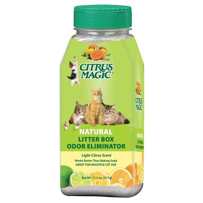 Citrus Magic Litter Box Odor Eliminator Fresh Citrus, 11.2 Ounce Shaker