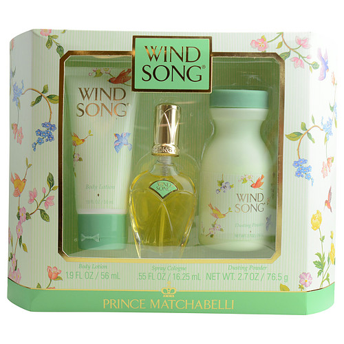 Prince Matchabelli 18417841 Wind Song By Prince Matchabelli Cologne Spray .55 Oz & Body Lotion 1.9 Oz & Dusting Powder 2.7 Oz