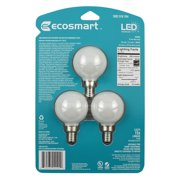EcoSmart 60-Watt Equivalent G16.5 Dimmable Energy Star Frosted Filament LED Light Bulb Daylight (3-Pack)
