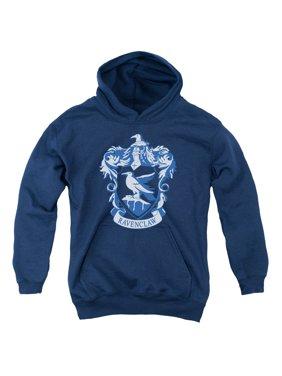 Harry Potter - Ravenclaw Crest - Youth Hooded Sweatshirt - Large