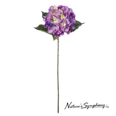 "Image of 31"" Nature's Symphony Decorative Artificial Flower Purple Hydrangea"