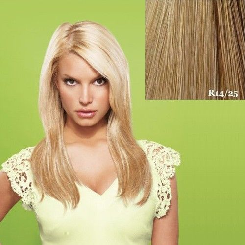 """Jessica Simpson HairDo Ken Paves 22"""" Straight Hair Extensions clip R14-25 (Honey Ginger)"""
