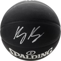 Kyle Kuzma Los Angeles Lakers Autographed Black Spalding Indoor Outdoor Basketball - Fanatics Authentic Certified