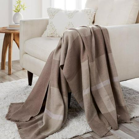 JOY Luxury Better Blanket Plaid Cotton & Cashmere Throw_6264056UW Luxury Scottish Cashmere