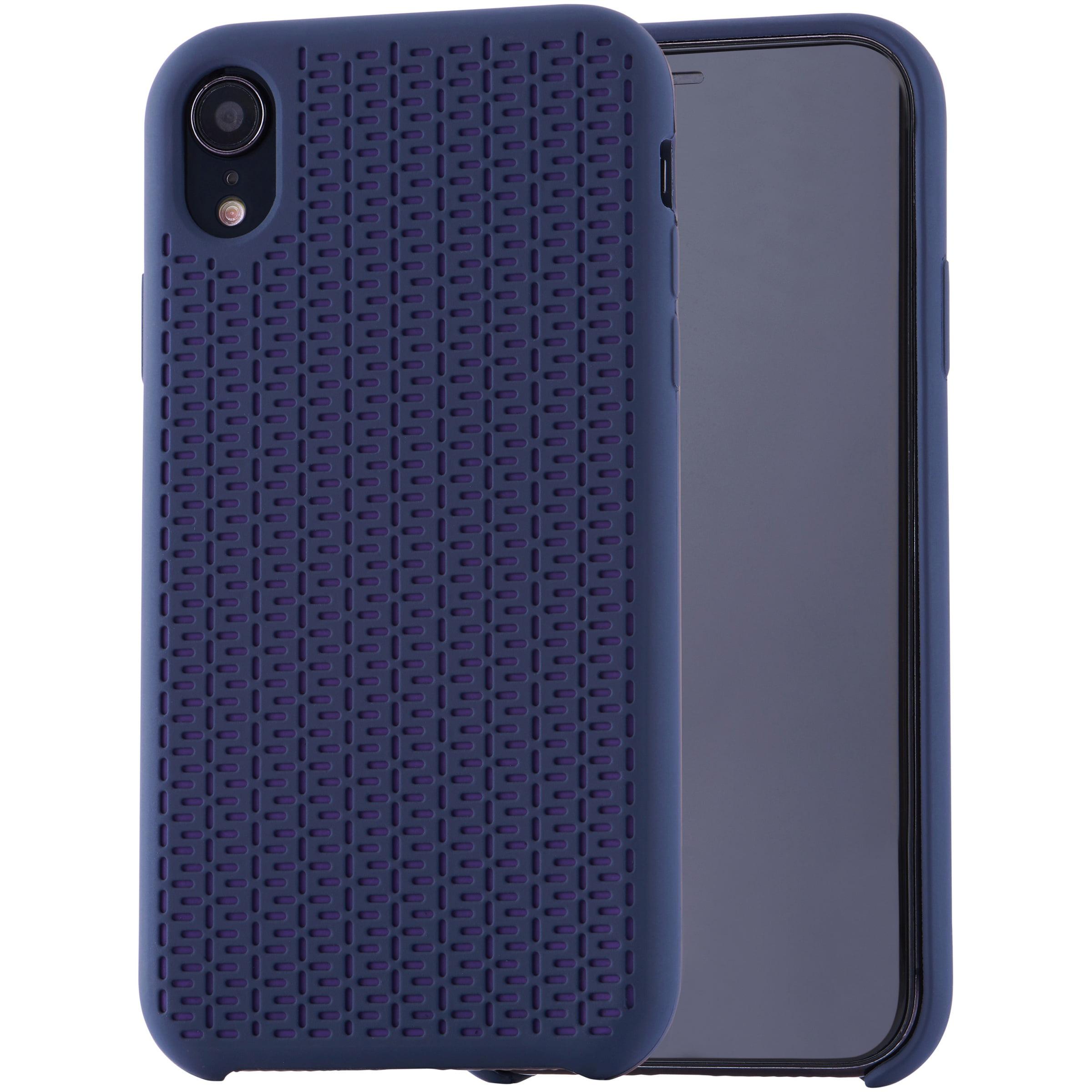 online store fb775 dd4d5 Blackweb Soft Touch Silicone Case for iPhone XR, Blue – BrickSeek