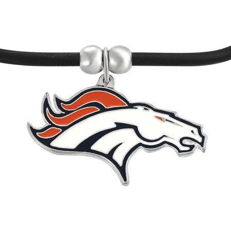 Brinley Co  Womens Zinc Alloy Nfl Denver Broncos Cord Pendant Fashion Necklace