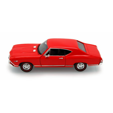 1968 Chevelle Tail (1968 Chevy Chevelle SS396 , Red - Welly 29397 - 1/24 scale Diecast Model Toy Car)