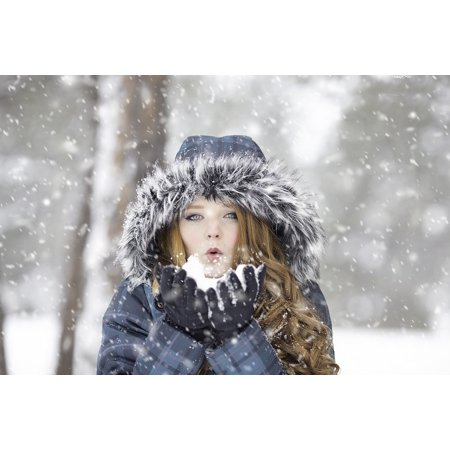 - Framed Art For Your Wall Winter Cold Portrait Female Outdoor Girl Redhead 10x13 Frame
