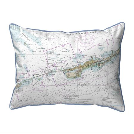 Halloween Parties In Miami (Betsy Drake SN11451M Miami to Marathon & FLorida Bay, FL Nautical Map Small Corded Indoor & Outdoor Pillow - 11 x 14)