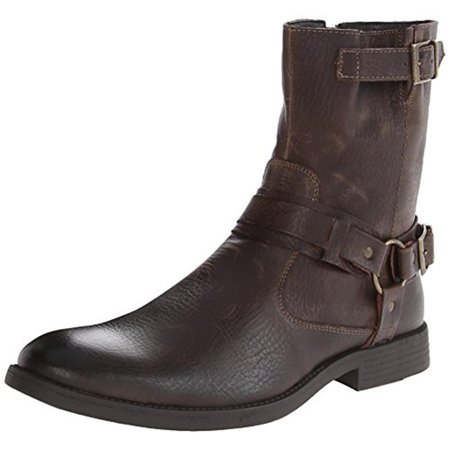 Robert Wayne Mens Easton Leather Ankle Harness Boots