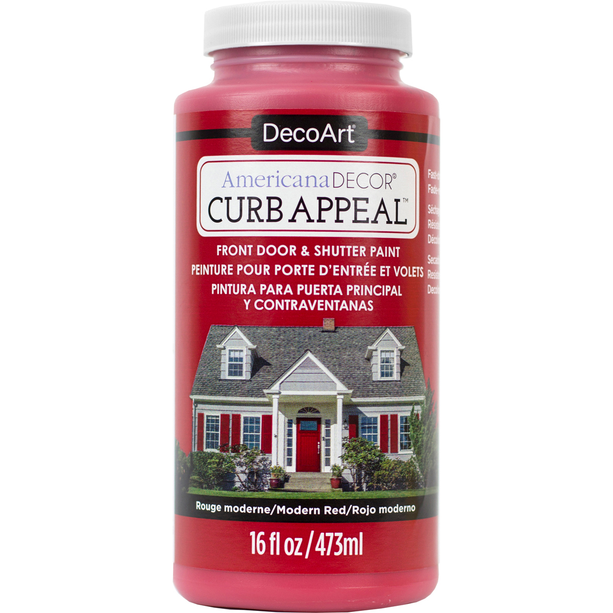 Americana Curb Appeal Paint 16oz-Modern Red