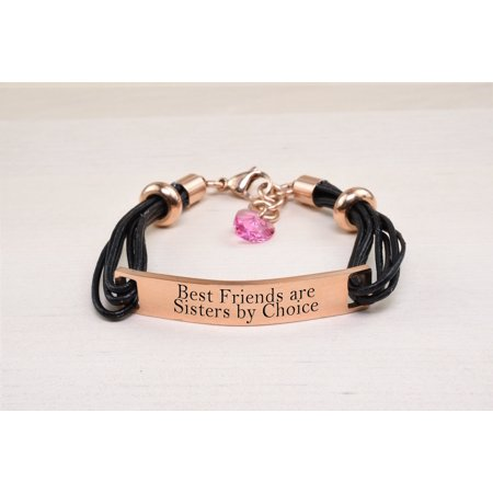 Genuine Leather ID Bracelet with Crystals from Swarovski - BEST (Best Jewelry To Sell From Home)