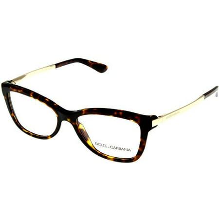 Dolce & Gabbana Womens Eyeglasses Designer Havana Square DG3218 502 Size: Lens/ Bridge/ Temple:  (Dolce Gabbana Reading Glasses)
