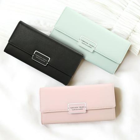 CHARMINER Women PU Leather Wallet Purse Long Handbag Clutch Box Bag Phone Card Holder Best Gifts For Women Lady