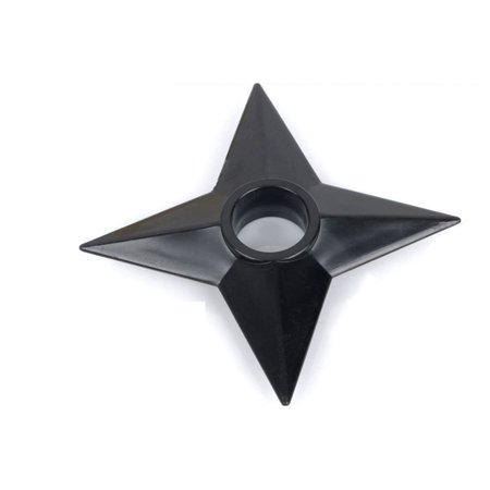 Cosplay Naruto Shuriken Throwing Star Set of 3pcs Plastic Black