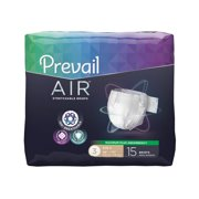 Prevail Air Maximum Plus Absorbency Stretchable Incontinence Briefs / Adult Diapers, Size 3, 48 Count