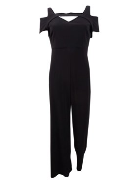 Nightway Women's Cutout Wide-Leg Jumpsuit (8, Black)