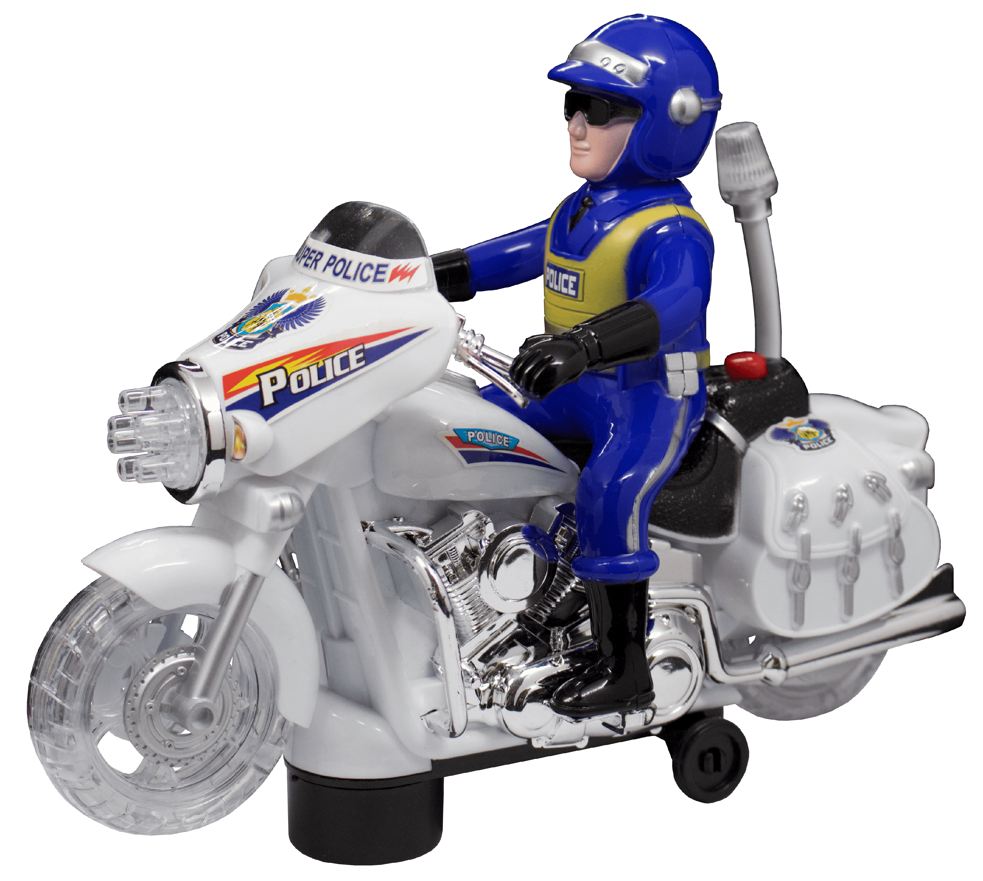Techege Toys Police Motorcycle Ride On For Boys Or Toddlers Kids With Lights Sounds Fun Walmart Com Walmart Com