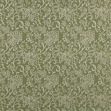 Contemporary Floral Fabric - Designer Fabrics B604 54 in. Wide Light Green, Contemporary Floral Jacquard Woven Upholstery Fabric