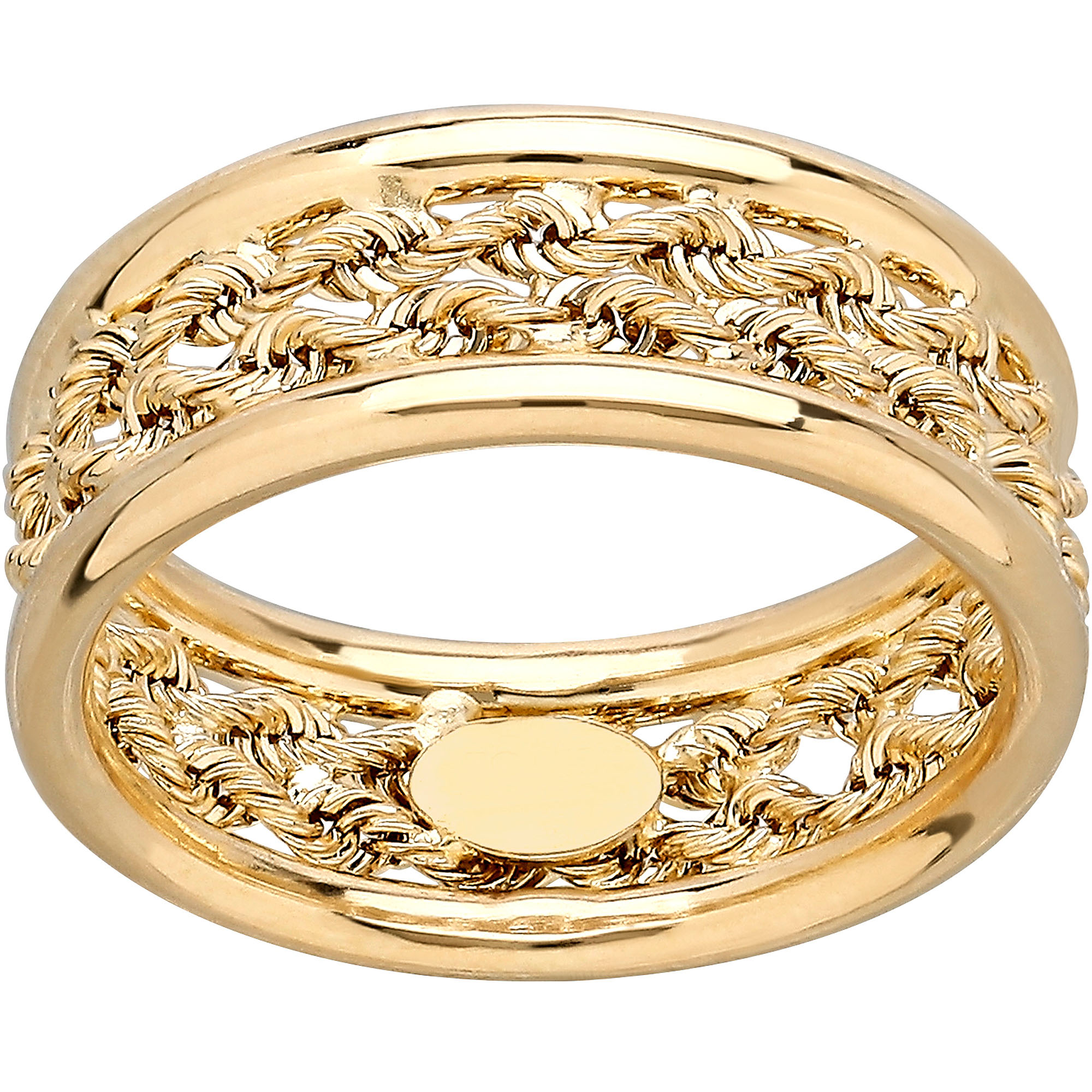 Simply Gold 10kt Yellow Gold Rope Center Size 7 Ring
