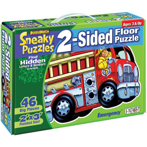 "Sneaky Floor Puzzle 2 Sided 46 Pieces 24""X36""-Emergency!"
