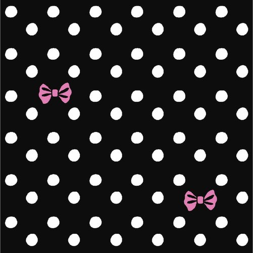 "Springs Creative Iconic Coordinates Cotton 44""/45"" Ditzy Bow Dot Black Fabric, per Yard"
