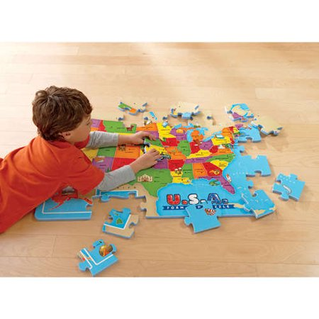 Educational Insights USA Foam Map Puzzle - Usa Puzzle Map