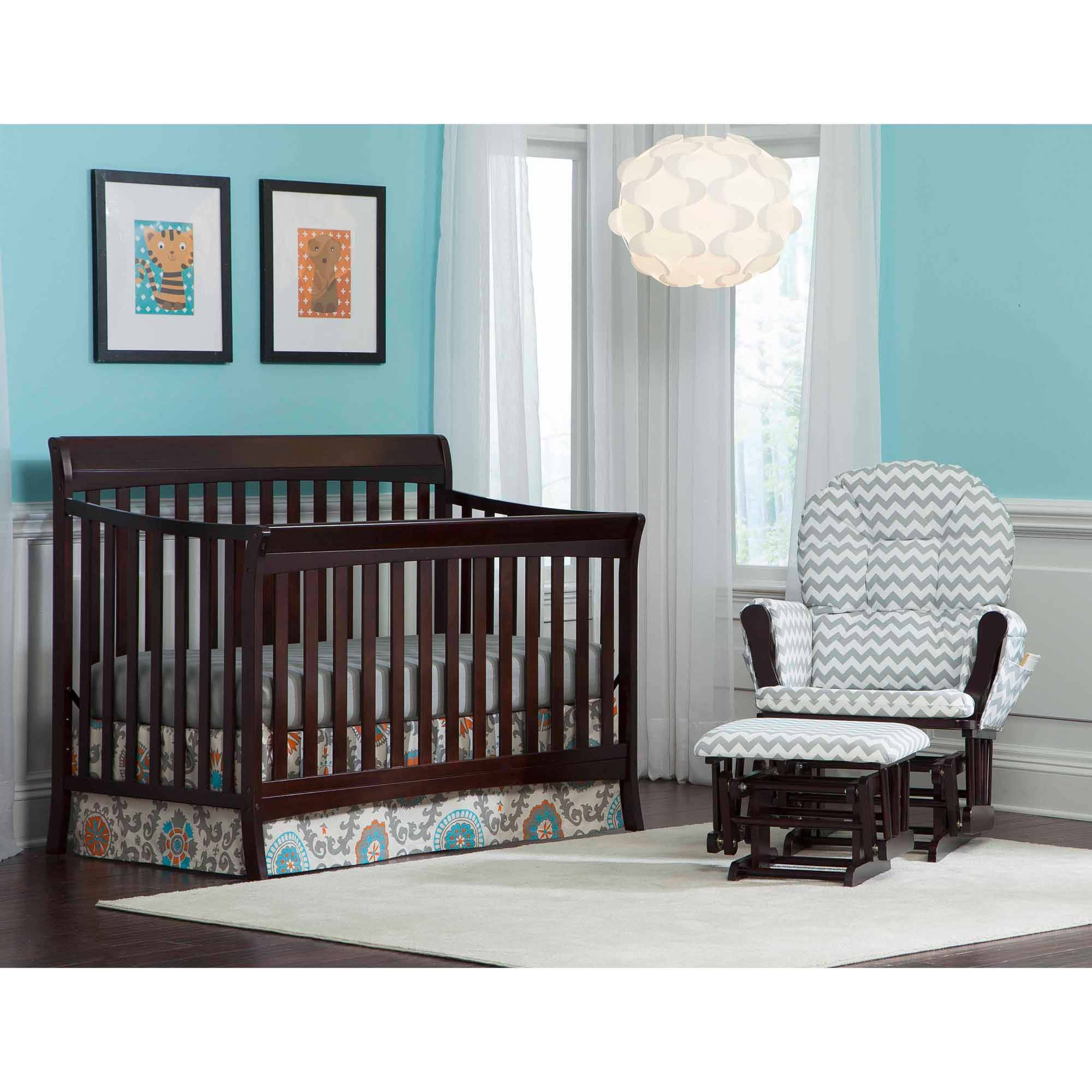 Storkcraft Avalon 4-in-1 Convertible Crib, Espresso