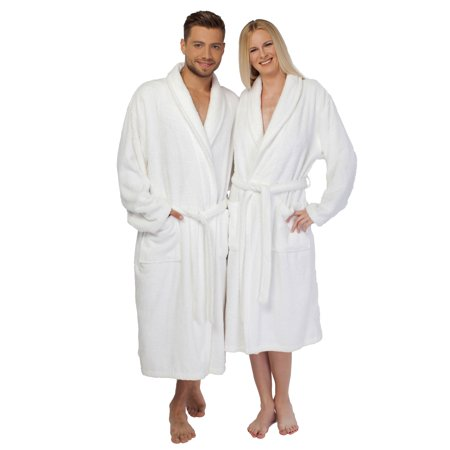 Linum Home White Turkish Cotton Terry Bath Robe - Princess Leia White Robe
