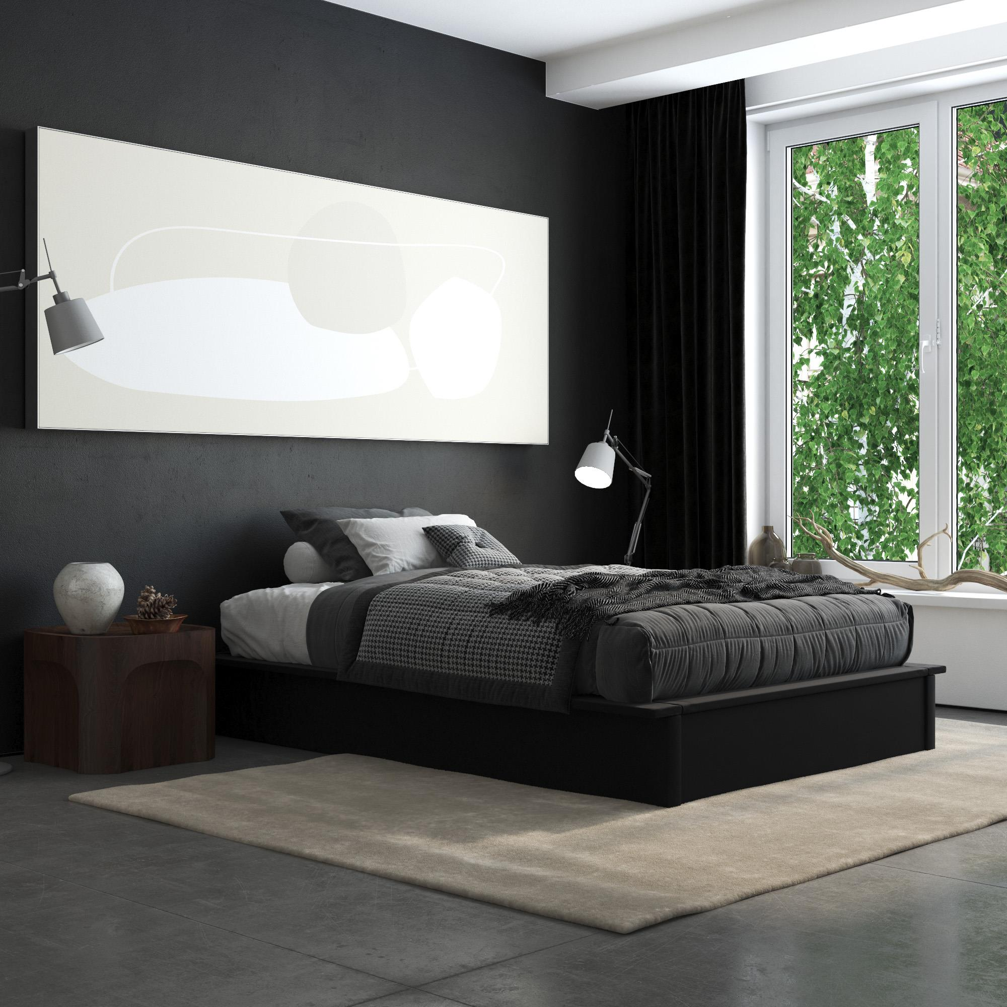 Full Size Platform Bed With Molding And Storage Multiple Colors Queen Size Bedding Beds Bed Frames