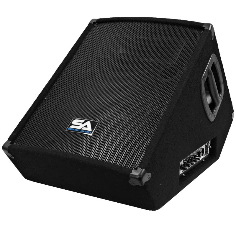 "Seismic Audio Powered 2-Way 12"" Floor / Stage Monitor Wedge Style - Active 12 Inch Monitor - SA-12MT-PW"