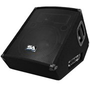 """Seismic Audio Powered 2-Way 12"""" Floor / Stage Monitor Wedge Style - Active 12 Inch Monitor - SA-12MT-PW"""