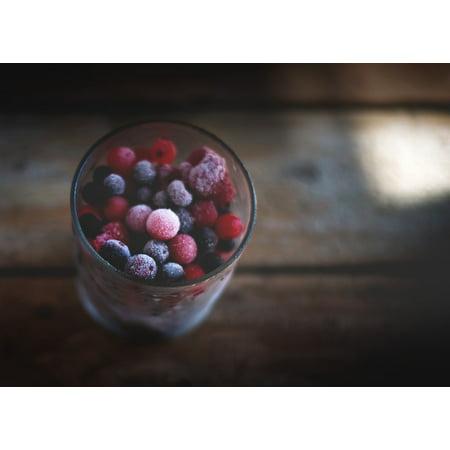 Framed Art For Your Wall Sweet Fruit Frozen Food Berries Food Dessert 10x13 - Frozen Photo Frame