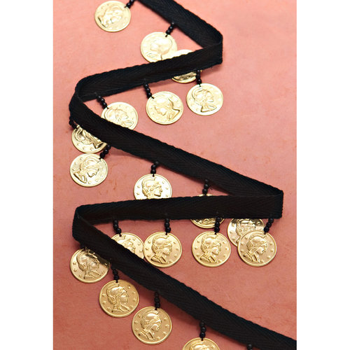 """Simplicity 1-3/8"""" Twill with Gold Coins"""