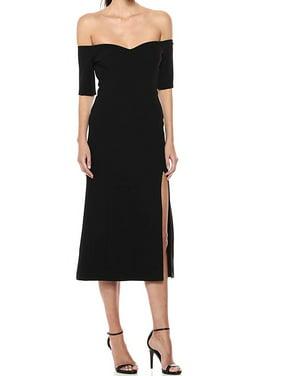 Off-The-Shoulder Side-Slit Dress