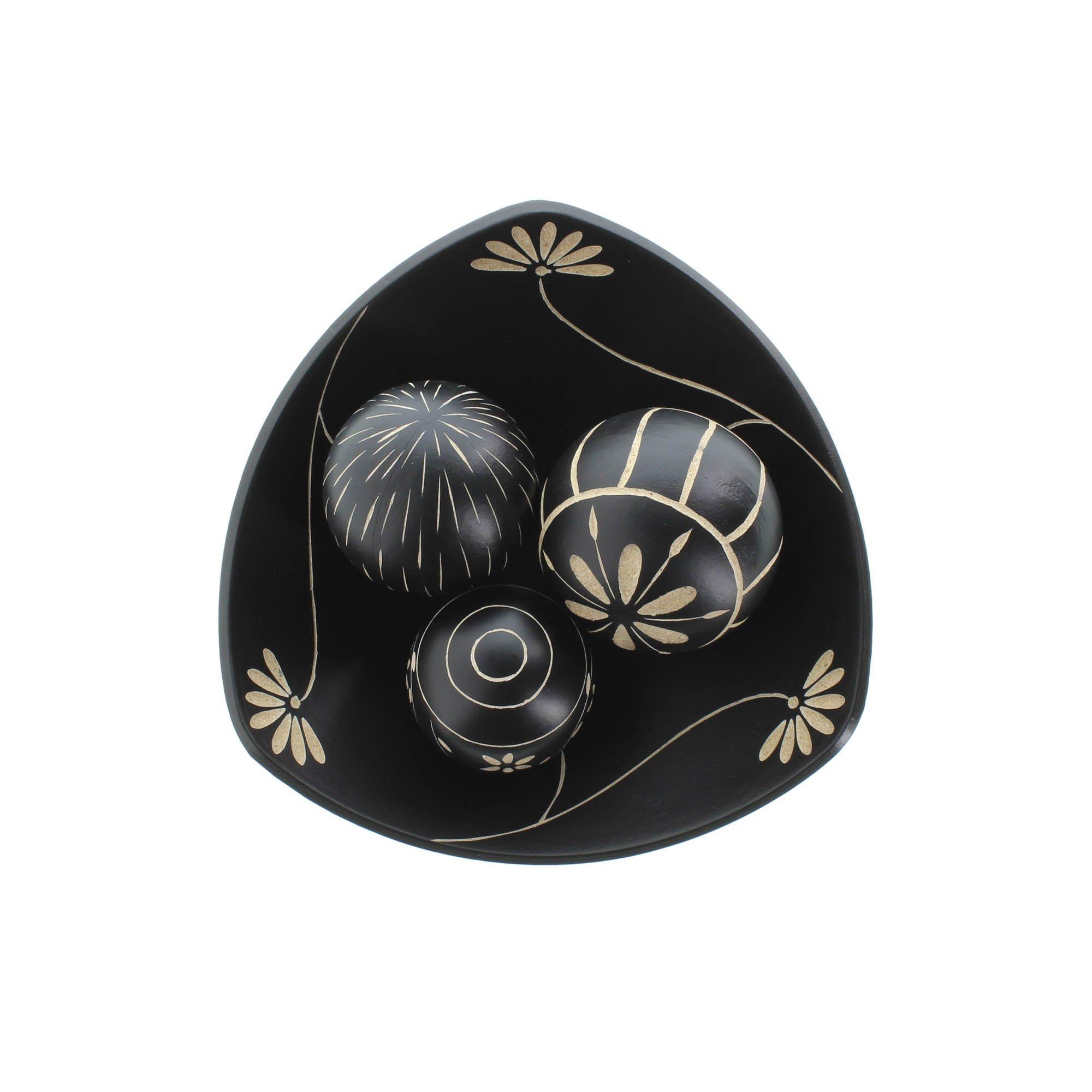 Black Decorative Balls For Bowls Entrancing Decorative Balls Bowl 3 Decorator Balls For Bowls  Black Decor Inspiration Design