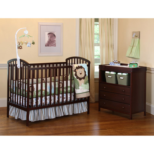 Child of Mine by Carter's My Nursery 3-in-1 Convertible Crib and Changing Table Combo, Mocha