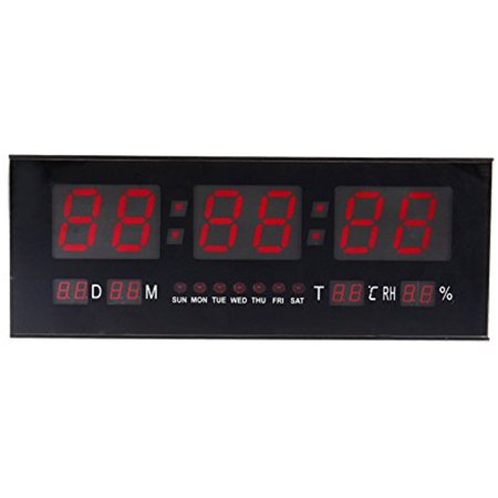 Florida State Seminoles Desk Clock - Digital LED lock With Alarm Calendar, Desk Wall Clock With Thermometer Temperature Display,Red