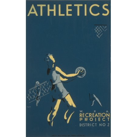 Hazlett WPA Athletics 1939 Canvas Art -  (18 x