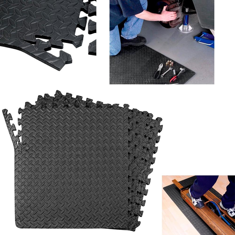 Sqft anti fatigue interlocking mats flooring gym foam floor