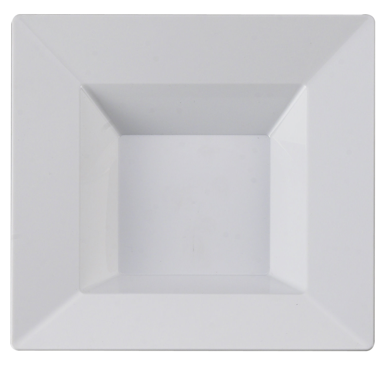 Kaya Collection - White Plastic Square 5oz Dessert/Appetizer Bowls - Disposable or Reusable - 2 Pack (20 Bowls)