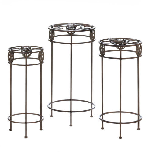 Zingz and Thingz Lonestar Horseshoe Plant Stand (Set of 3) by Zingz & Thingz