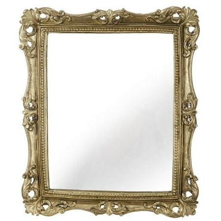 Astoria Grand Biermann Rectangle Gold Framed Wall Mirror Walmart